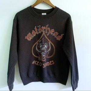 VTG Motorhead Women Black Pullover Sweater